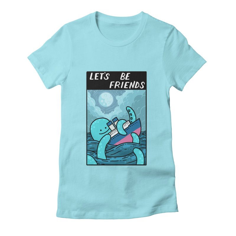 LET'S BE FRIENDS Women's Fitted T-Shirt by GOOD AND NICE SHIRTS