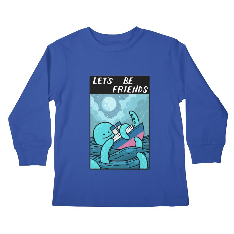 LET'S BE FRIENDS Kids Longsleeve T-Shirt by GOOD AND NICE SHIRTS