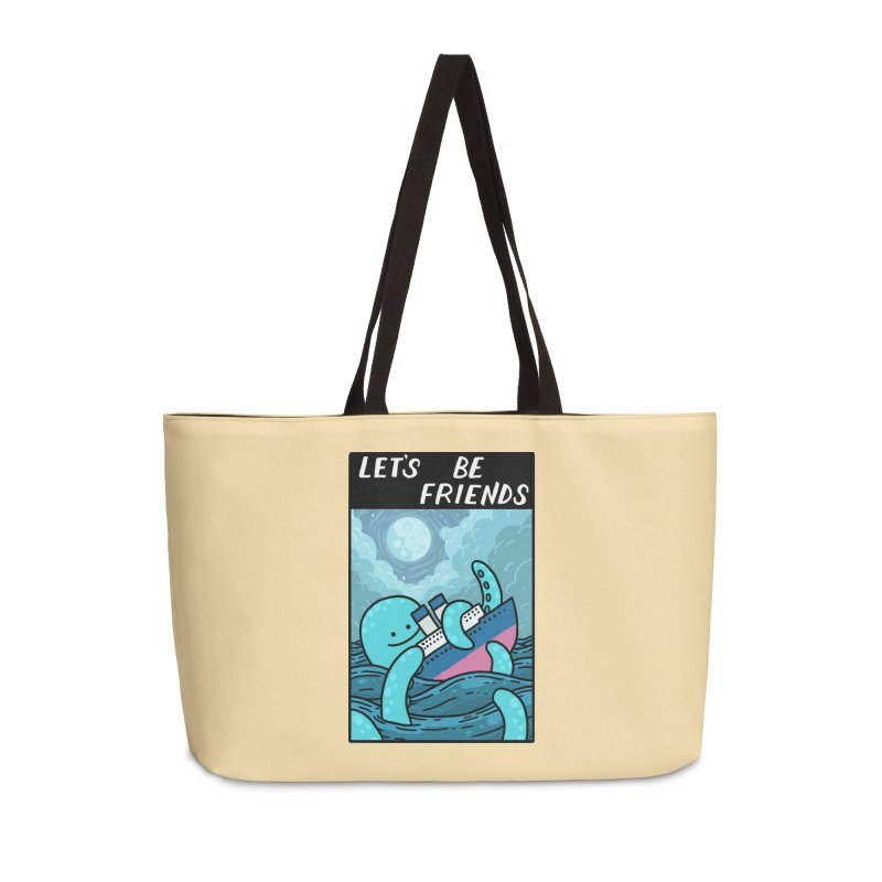 LET'S BE FRIENDS Accessories Weekender Bag Bag by GOOD AND NICE SHIRTS
