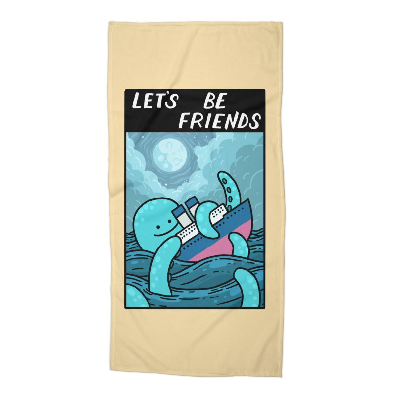 LET'S BE FRIENDS Accessories Beach Towel by GOOD AND NICE SHIRTS