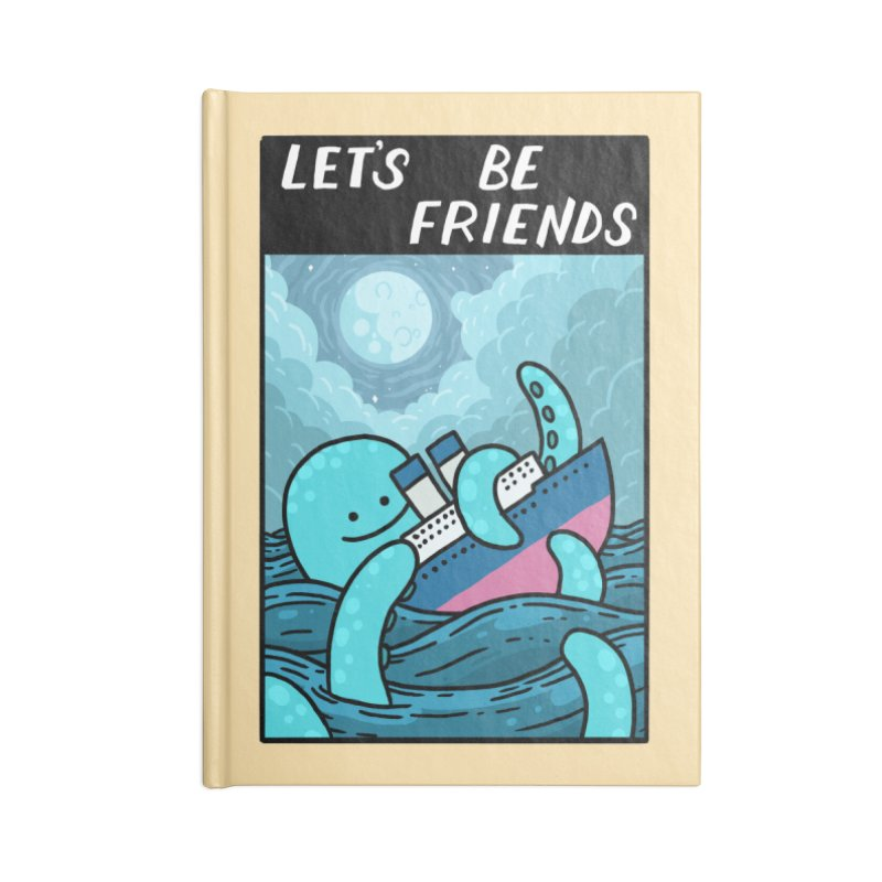 LET'S BE FRIENDS Accessories Lined Journal Notebook by GOOD AND NICE SHIRTS