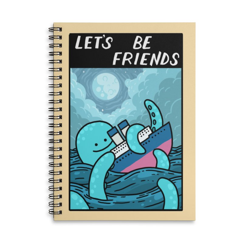 LET'S BE FRIENDS Accessories Lined Spiral Notebook by GOOD AND NICE SHIRTS