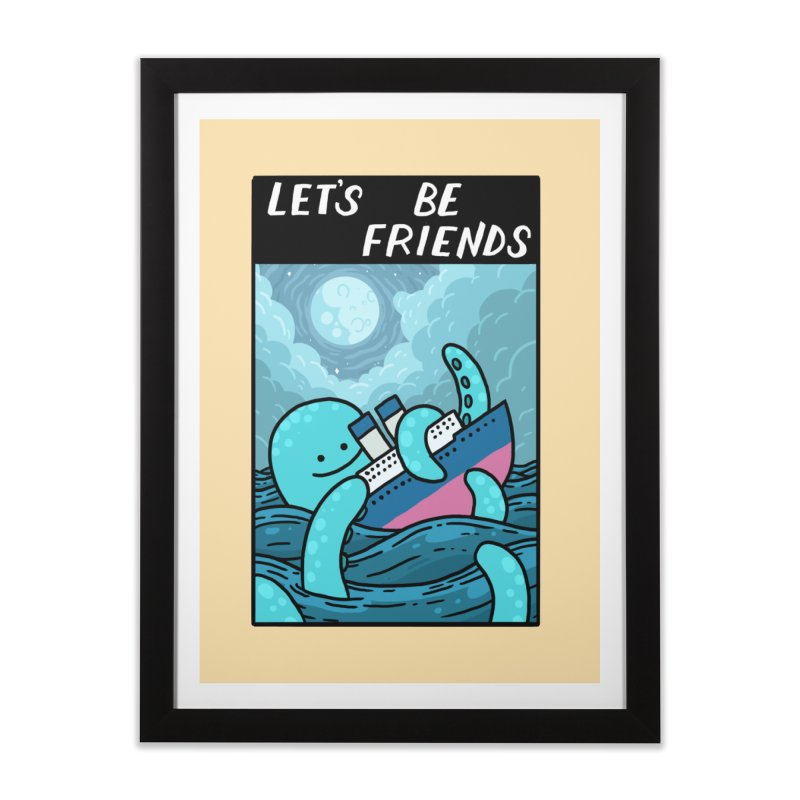 LET'S BE FRIENDS Home Framed Fine Art Print by GOOD AND NICE SHIRTS