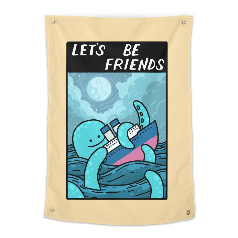 LET'S BE FRIENDS Home Tapestry by GOOD AND NICE SHIRTS