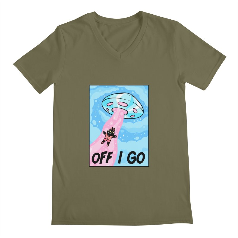 OFF I GO Men's V-Neck by GOOD AND NICE SHIRTS