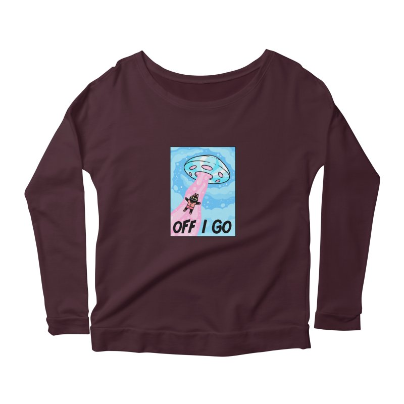 OFF I GO Women's Scoop Neck Longsleeve T-Shirt by GOOD AND NICE SHIRTS