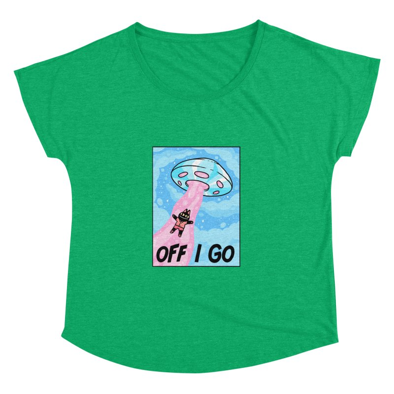 OFF I GO Women's Dolman Scoop Neck by GOOD AND NICE SHIRTS