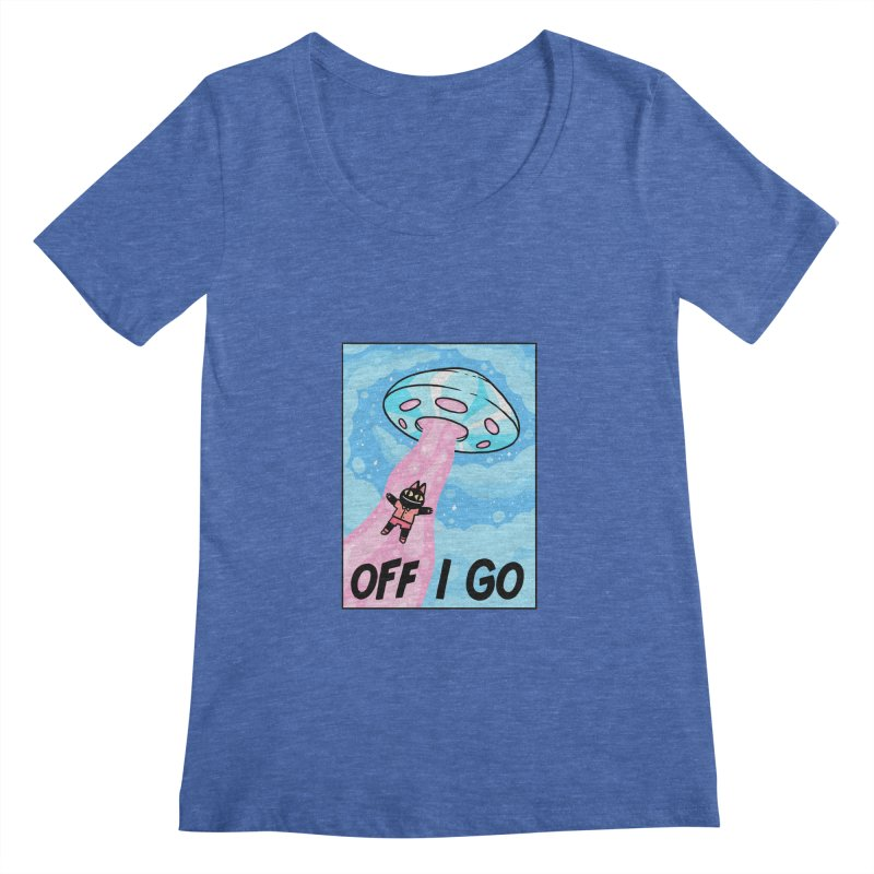 OFF I GO Women's Regular Scoop Neck by GOOD AND NICE SHIRTS