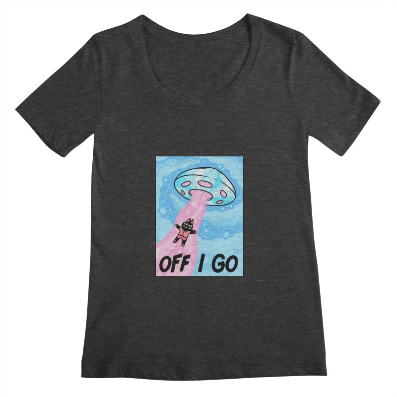 OFF I GO Women's Scoopneck by GOOD AND NICE SHIRTS