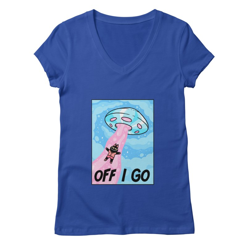 OFF I GO Women's Regular V-Neck by GOOD AND NICE SHIRTS