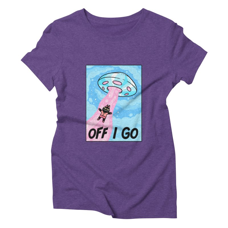 OFF I GO Women's Triblend T-Shirt by GOOD AND NICE SHIRTS