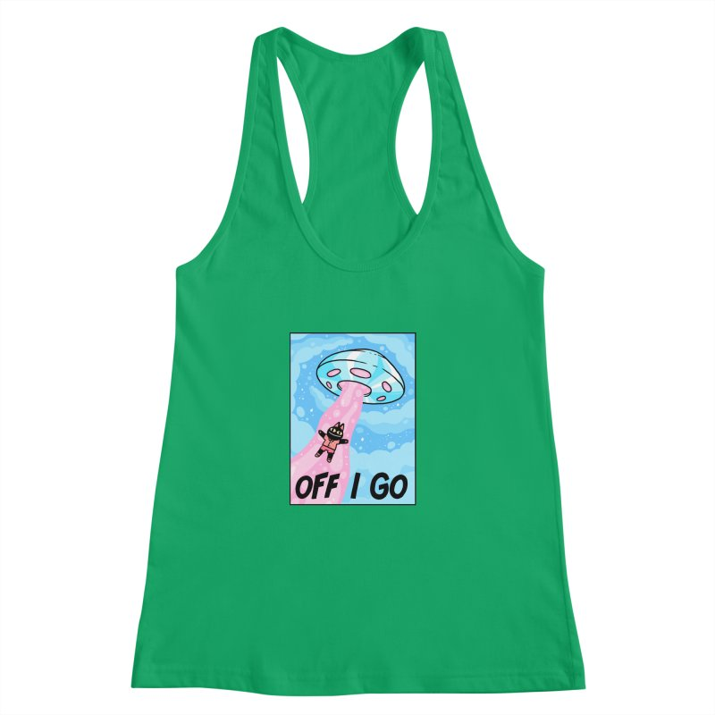 OFF I GO Women's Racerback Tank by GOOD AND NICE SHIRTS