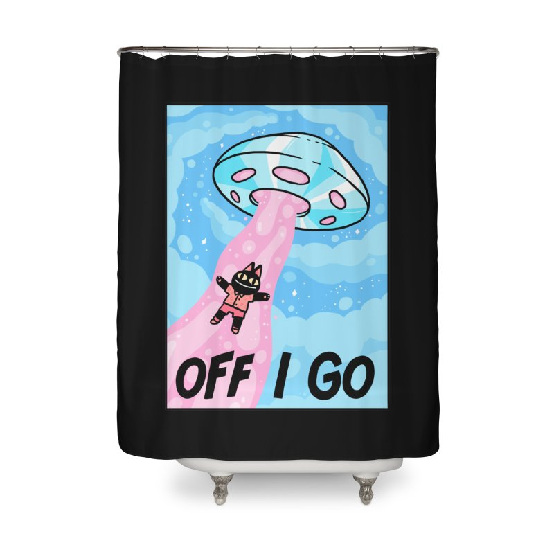 OFF I GO Home Shower Curtain by GOOD AND NICE SHIRTS