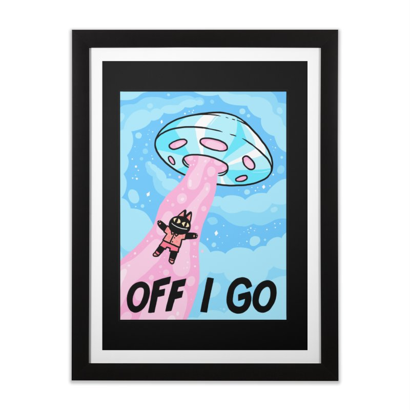 OFF I GO Home Framed Fine Art Print by GOOD AND NICE SHIRTS