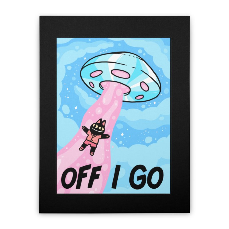 OFF I GO Home Stretched Canvas by GOOD AND NICE SHIRTS