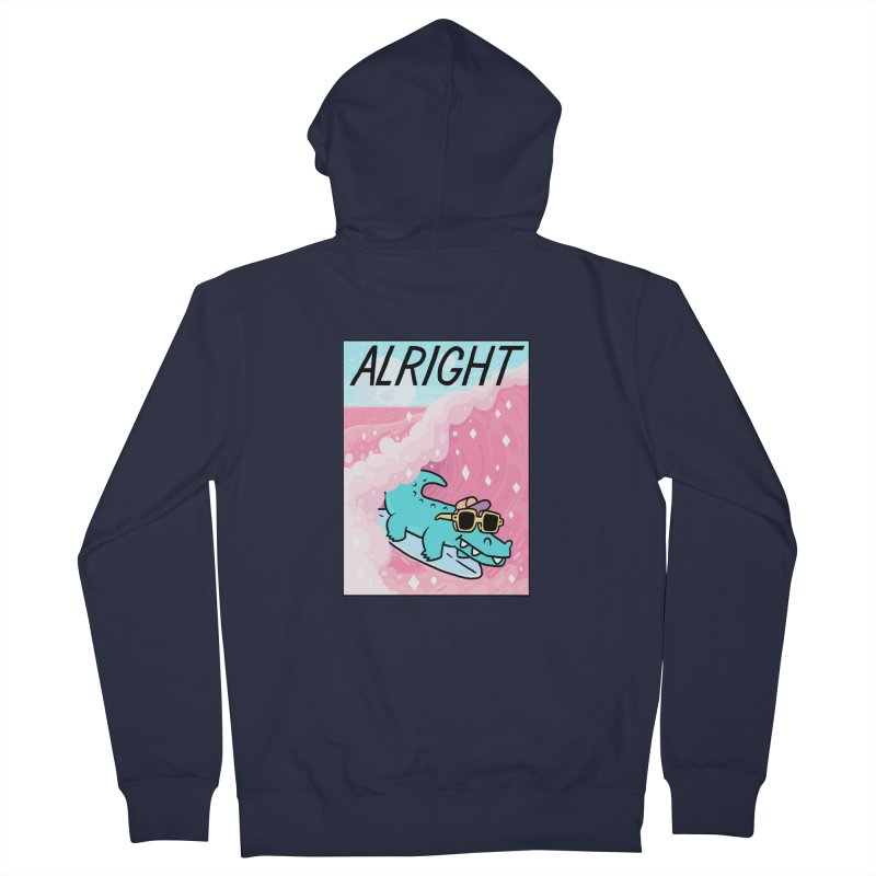 ALRIGHT Women's Zip-Up Hoody by GOOD AND NICE SHIRTS