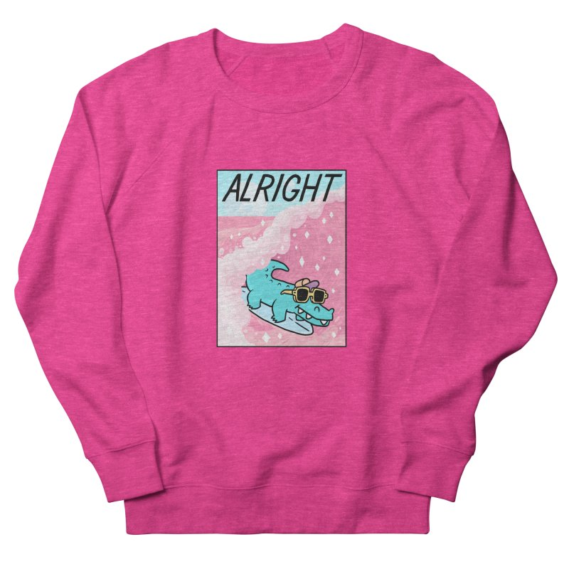 ALRIGHT Women's French Terry Sweatshirt by GOOD AND NICE SHIRTS
