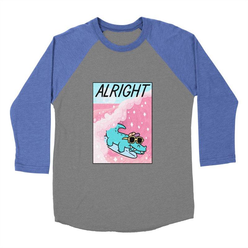 ALRIGHT Men's Baseball Triblend Longsleeve T-Shirt by GOOD AND NICE SHIRTS