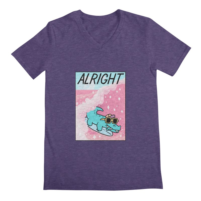 ALRIGHT Men's Regular V-Neck by GOOD AND NICE SHIRTS