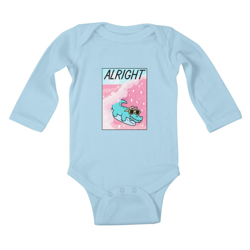 ALRIGHT Kids Baby Longsleeve Bodysuit by GOOD AND NICE SHIRTS