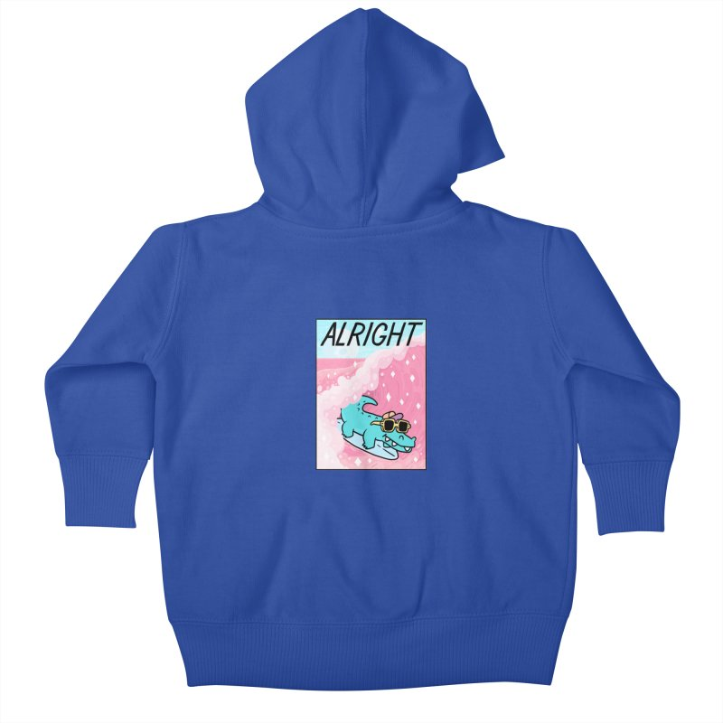 ALRIGHT Kids Baby Zip-Up Hoody by GOOD AND NICE SHIRTS