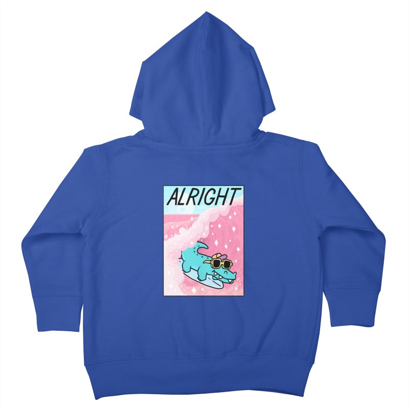 ALRIGHT Kids Toddler Zip-Up Hoody by GOOD AND NICE SHIRTS