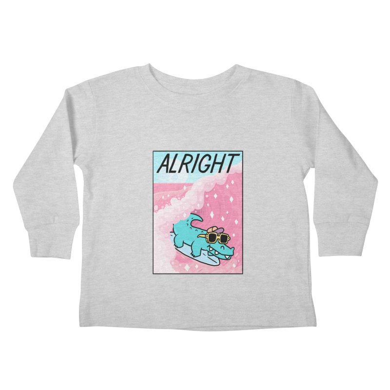 ALRIGHT Kids Toddler Longsleeve T-Shirt by GOOD AND NICE SHIRTS