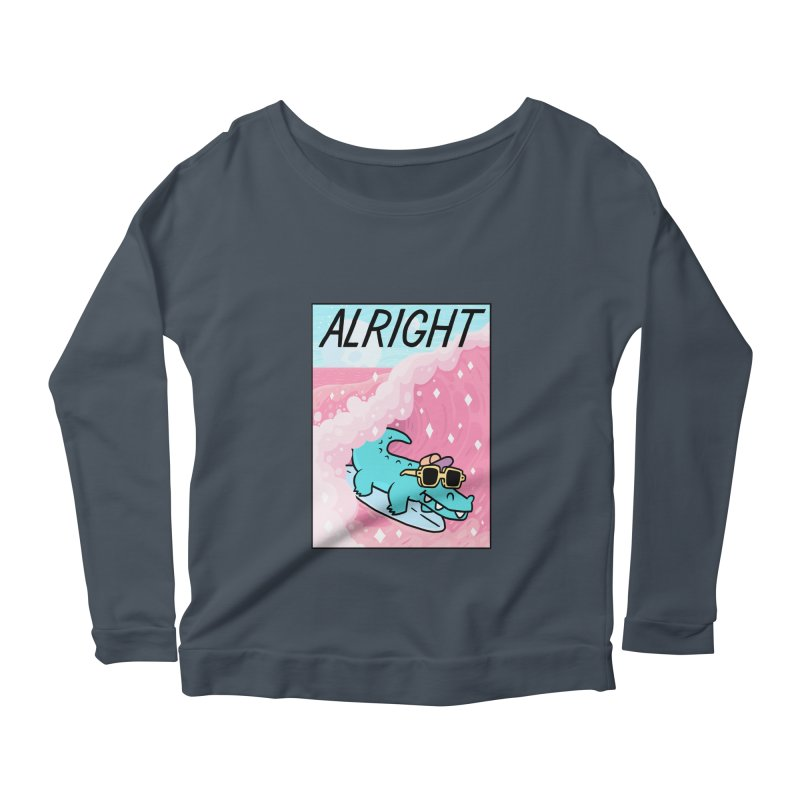 ALRIGHT Women's Scoop Neck Longsleeve T-Shirt by GOOD AND NICE SHIRTS