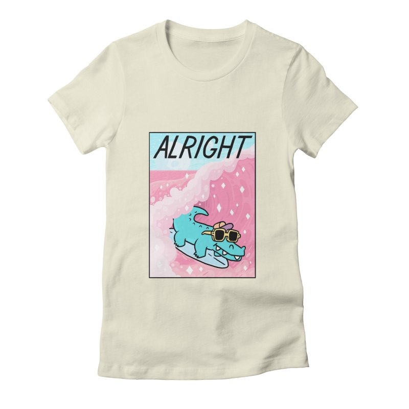 ALRIGHT Women's Fitted T-Shirt by GOOD AND NICE SHIRTS