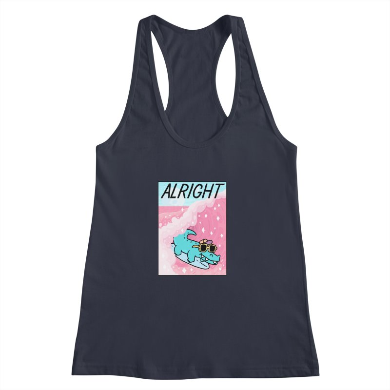 ALRIGHT Women's Racerback Tank by GOOD AND NICE SHIRTS