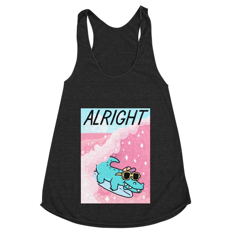 ALRIGHT Women's Racerback Triblend Tank by GOOD AND NICE SHIRTS
