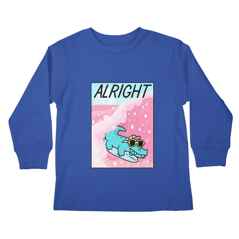 ALRIGHT Kids Longsleeve T-Shirt by GOOD AND NICE SHIRTS