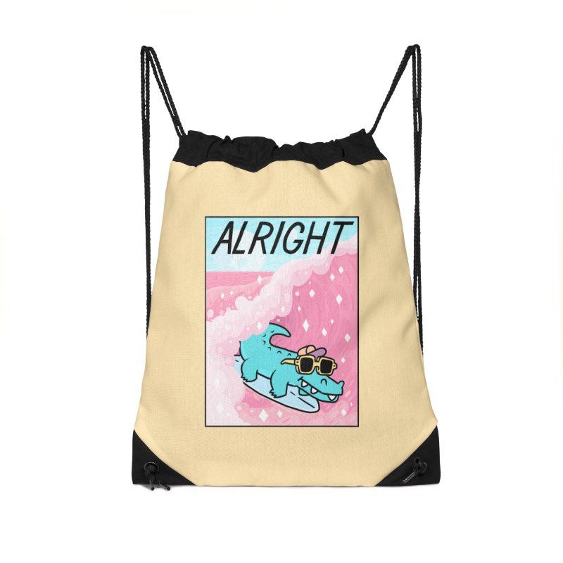 ALRIGHT Accessories Drawstring Bag Bag by GOOD AND NICE SHIRTS