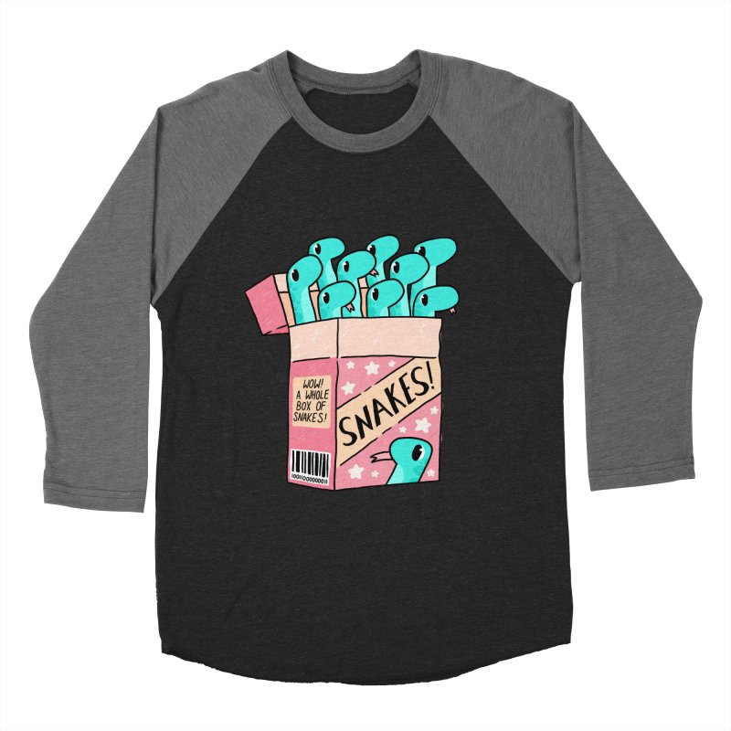 SNAKES! Women's Baseball Triblend Longsleeve T-Shirt by GOOD AND NICE SHIRTS