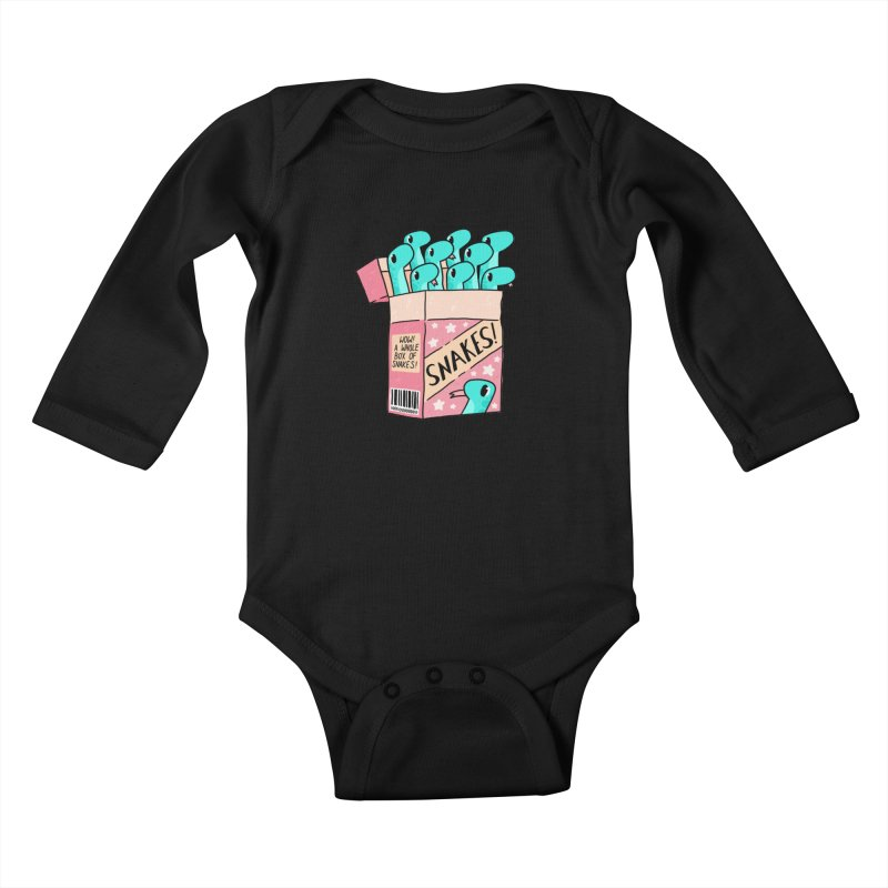 SNAKES! Kids Baby Longsleeve Bodysuit by GOOD AND NICE SHIRTS