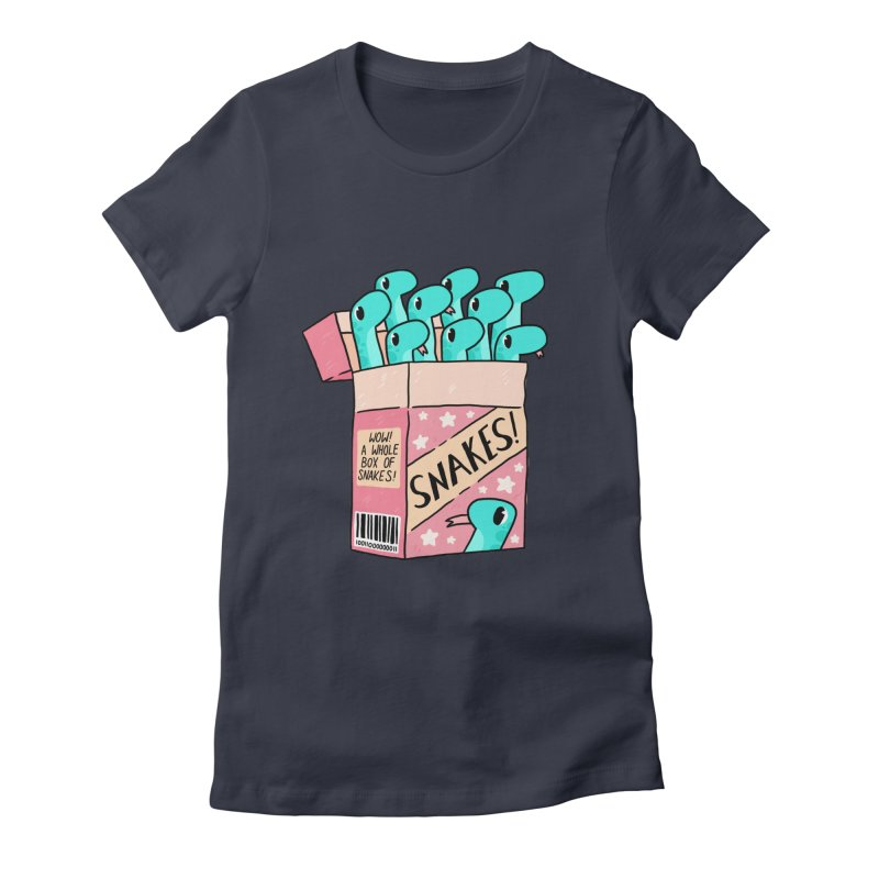 SNAKES! Women's Fitted T-Shirt by GOOD AND NICE SHIRTS
