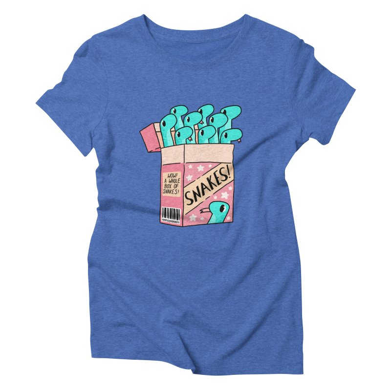 SNAKES! Women's Triblend T-Shirt by GOOD AND NICE SHIRTS