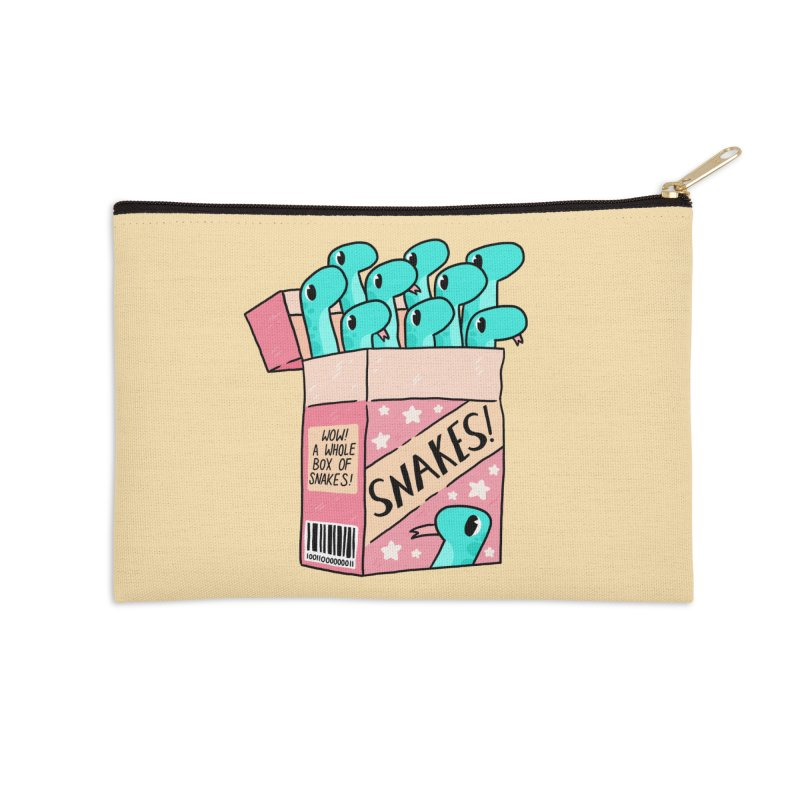 SNAKES! Accessories Zip Pouch by GOOD AND NICE SHIRTS