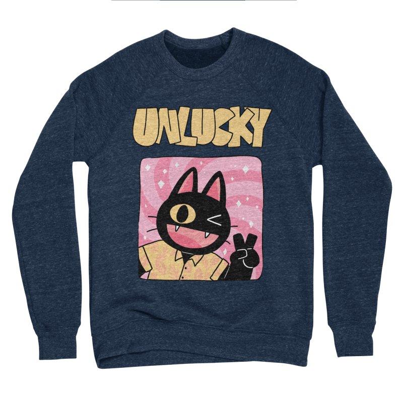 UNLUCKY Men's Sponge Fleece Sweatshirt by GOOD AND NICE SHIRTS
