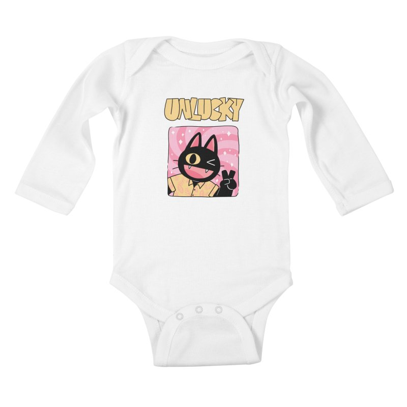 UNLUCKY Kids Baby Longsleeve Bodysuit by GOOD AND NICE SHIRTS