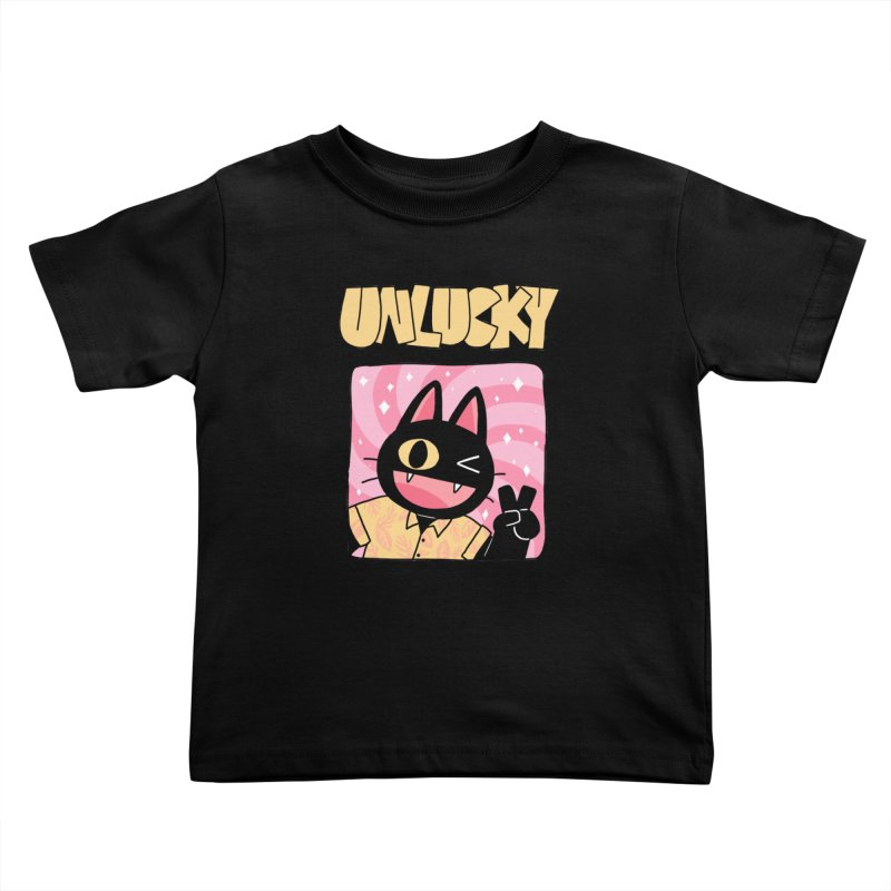 UNLUCKY Kids Toddler T-Shirt by GOOD AND NICE SHIRTS