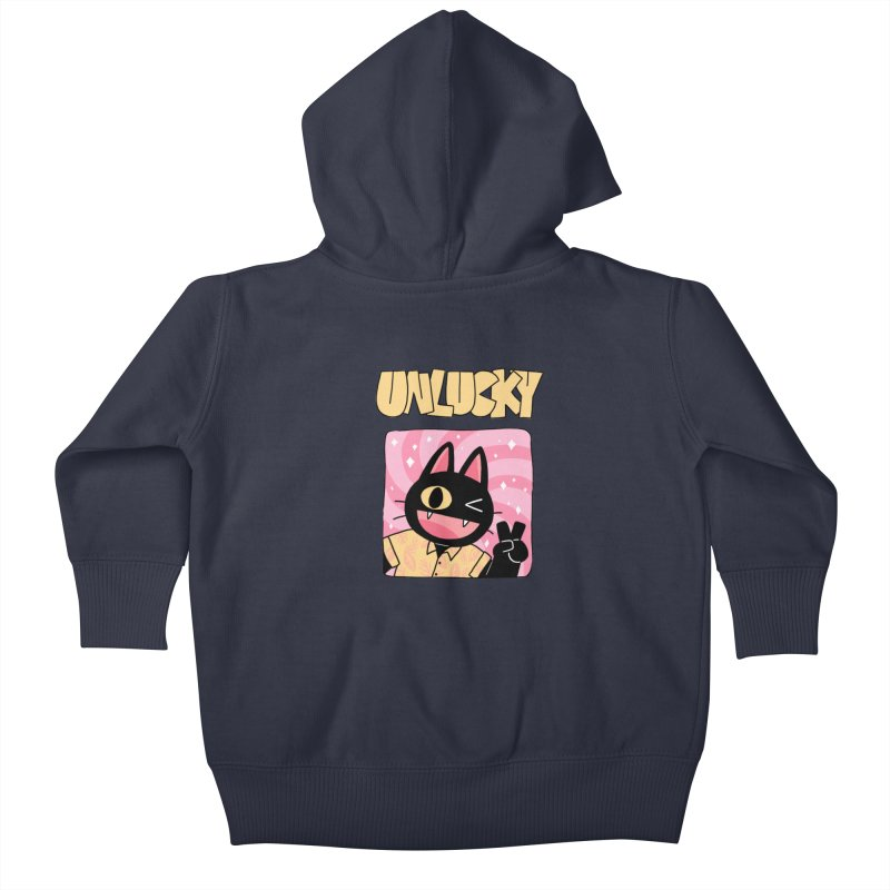 UNLUCKY Kids Baby Zip-Up Hoody by GOOD AND NICE SHIRTS