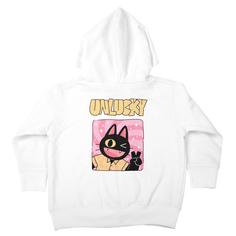 UNLUCKY Kids Toddler Zip-Up Hoody by GOOD AND NICE SHIRTS