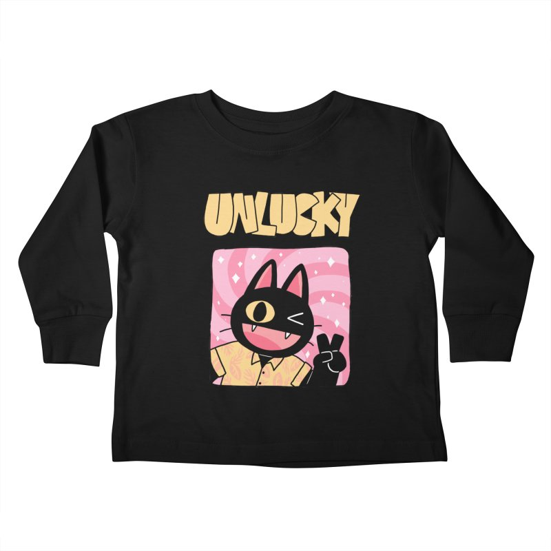 UNLUCKY Kids Toddler Longsleeve T-Shirt by GOOD AND NICE SHIRTS