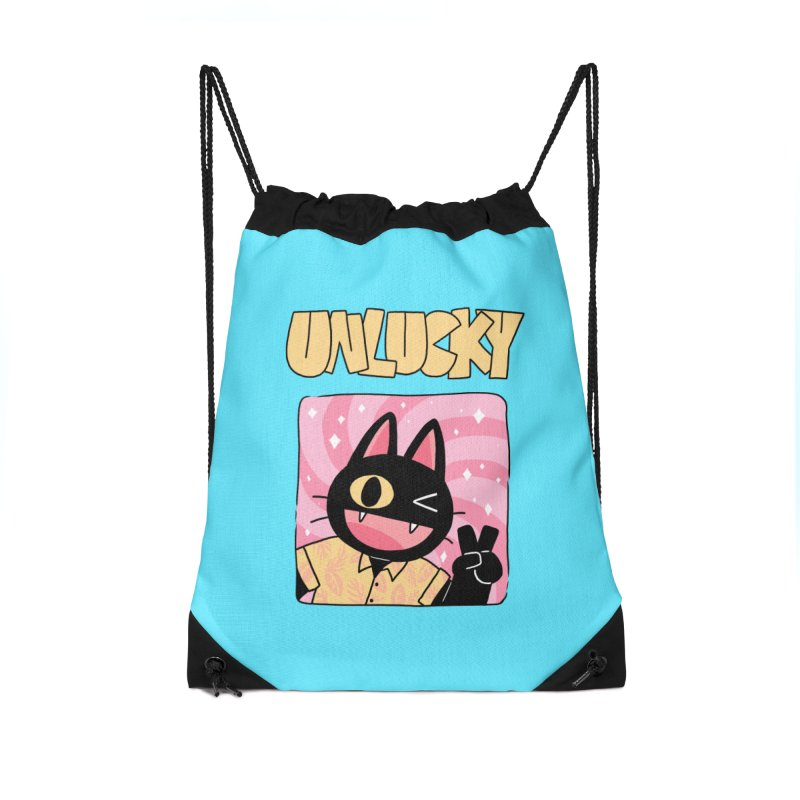 UNLUCKY Accessories Drawstring Bag Bag by GOOD AND NICE SHIRTS