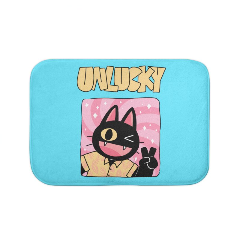 UNLUCKY Home Bath Mat by GOOD AND NICE SHIRTS