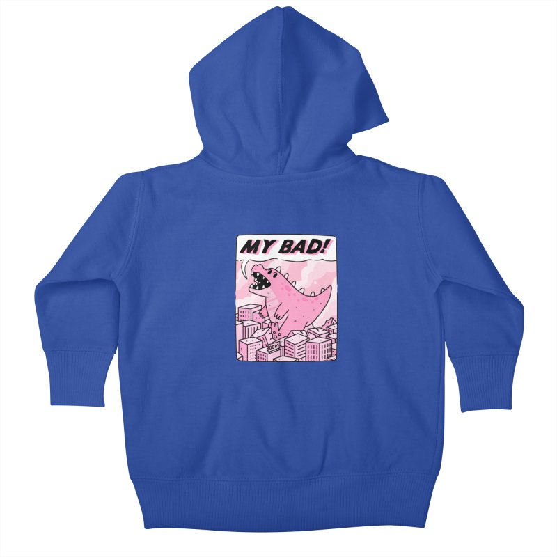 MY BAD! Kids Baby Zip-Up Hoody by GOOD AND NICE SHIRTS