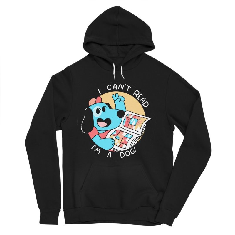 I CAN'T READ! Men's Sponge Fleece Pullover Hoody by GOOD AND NICE SHIRTS