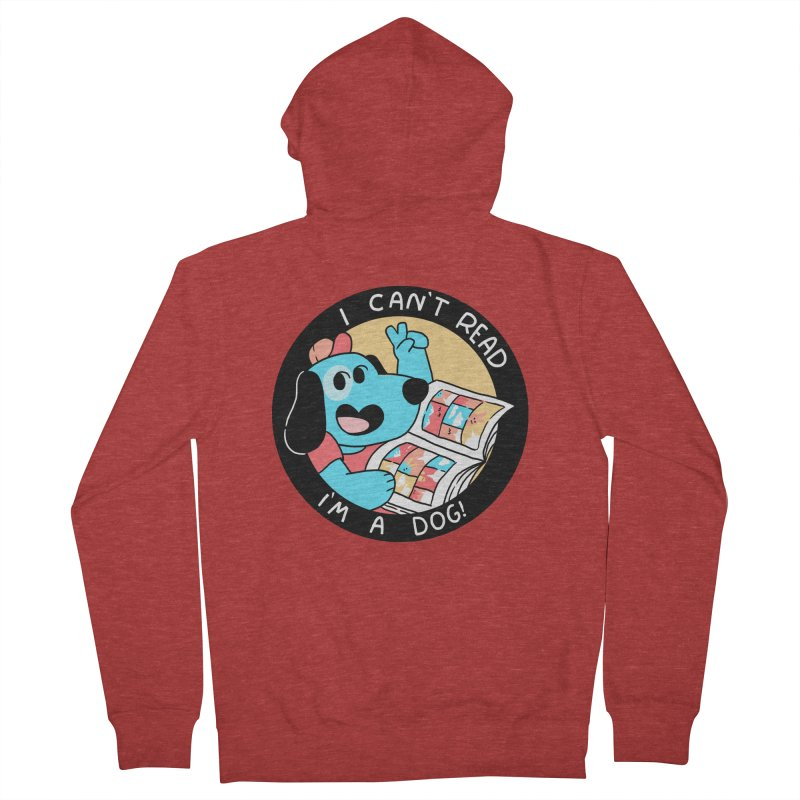 I CAN'T READ! Men's French Terry Zip-Up Hoody by GOOD AND NICE SHIRTS