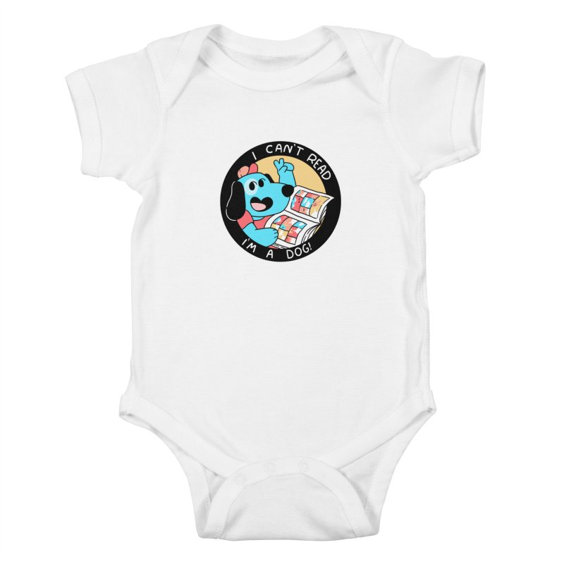 I CAN'T READ! Kids Baby Bodysuit by GOOD AND NICE SHIRTS